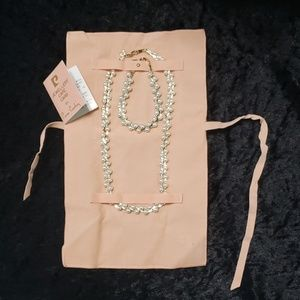 Pierre Cardin Faux Pearl Necklace & Bracelet Set